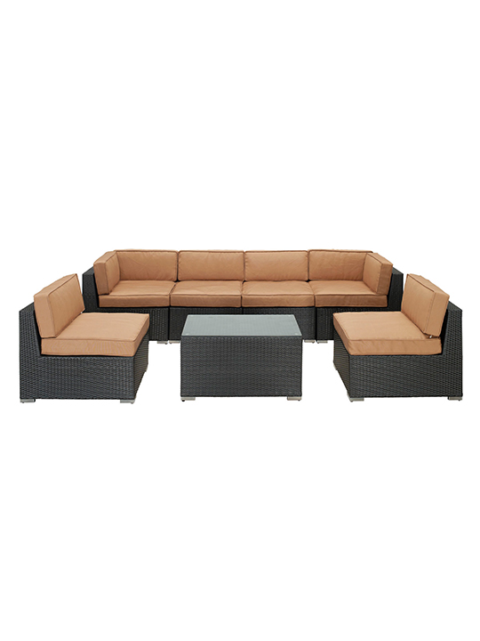 Light Brown Jamaica 7 Piece Outdoor Set