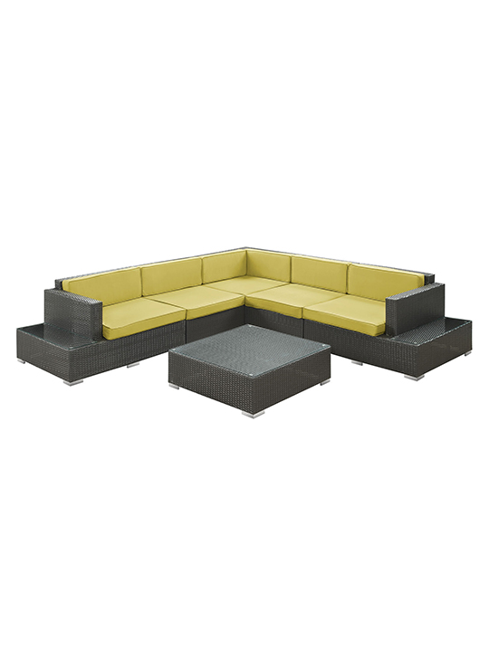 Lime Green Cancun 6 Piece Outdoor Sofa Set