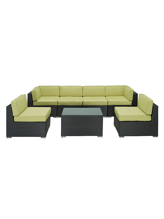 Lime Green Jamaica 7 Piece Outdoor Set