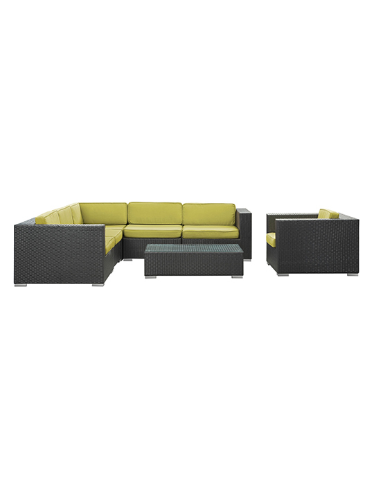 Lime Green South Beach Espresso Outdoor Set