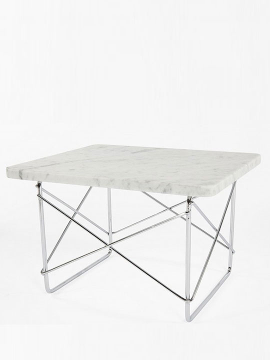 Marble Wire Side Table