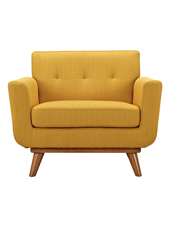 Mustard Yellow Pop Art Deco Armchair