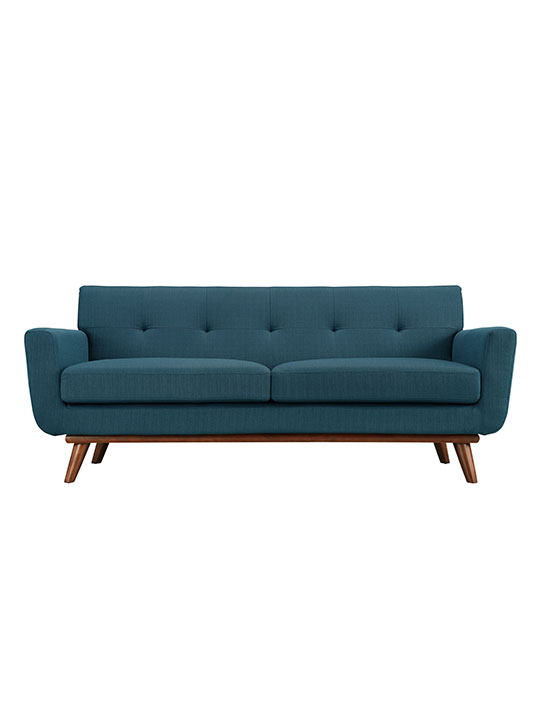 Ocean Blue Pop Art Loveseat