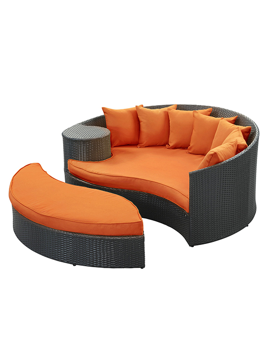 Orange Austin Outdoor Sofa Set