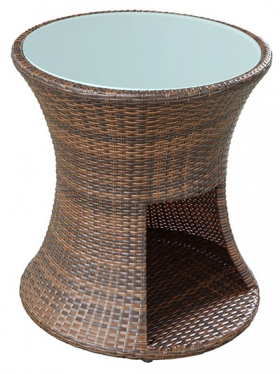 Rattan Drum Side Table 2 E1435094522115