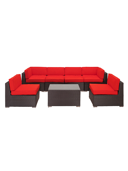 Red Jamaica 7 Piece Outdoor Set