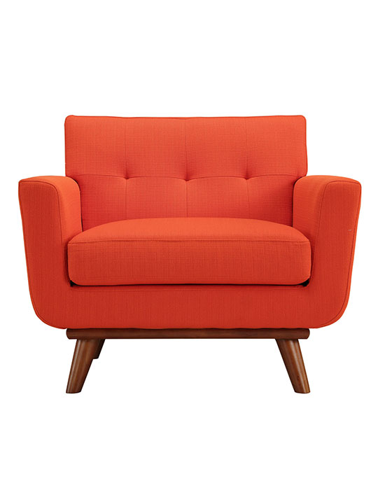 Red Orange Pop Art Deco Armchair