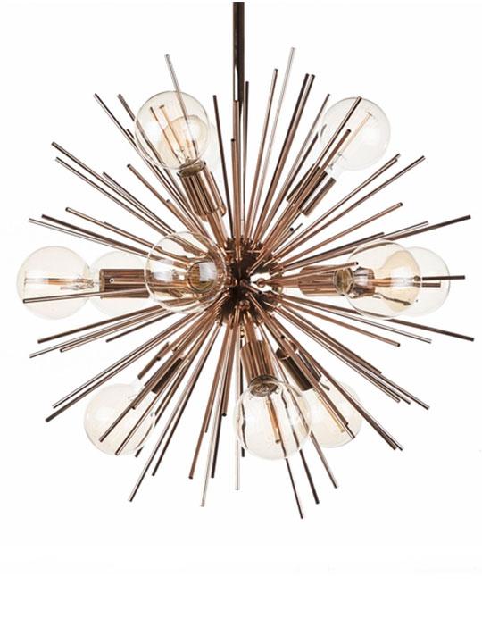 Rose Gold Spine Pendant Lamp 3