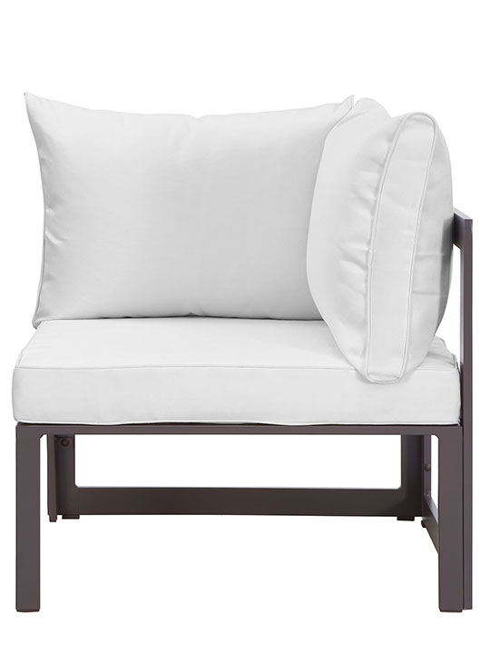 Star Island Corner Chair Brown White Cushion 2