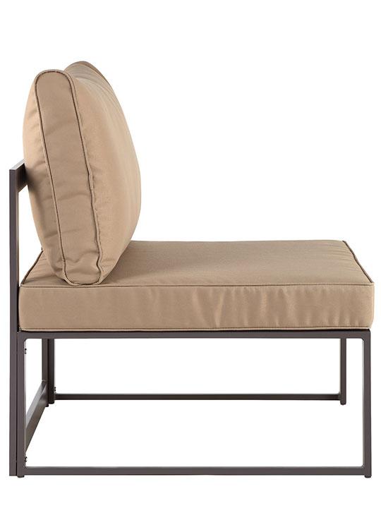 Star Island Outdoor Chair Brown Light Brown Cushion 21