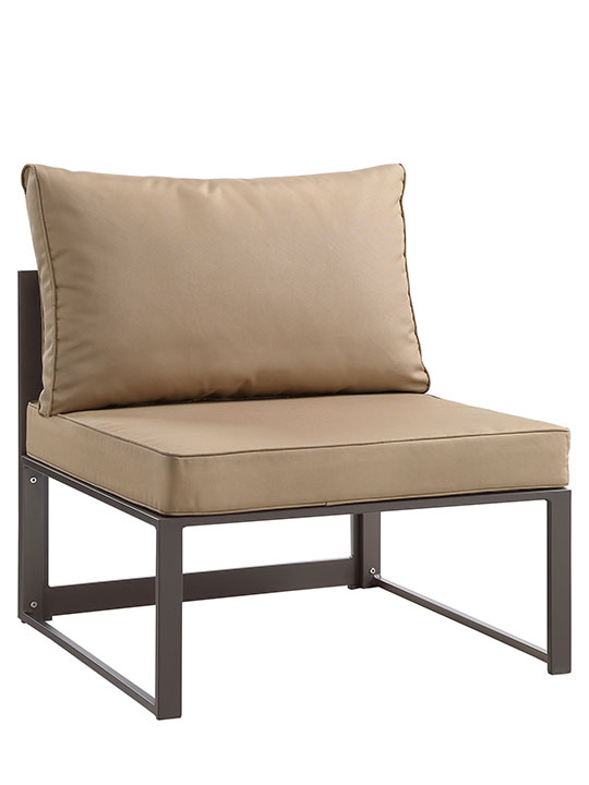 Star Island Outdoor Chair Brown Light Brown Cushion