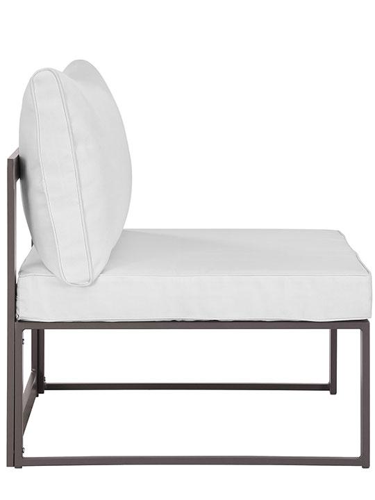 Star Island Outdoor Chair Brown White Cushion 2