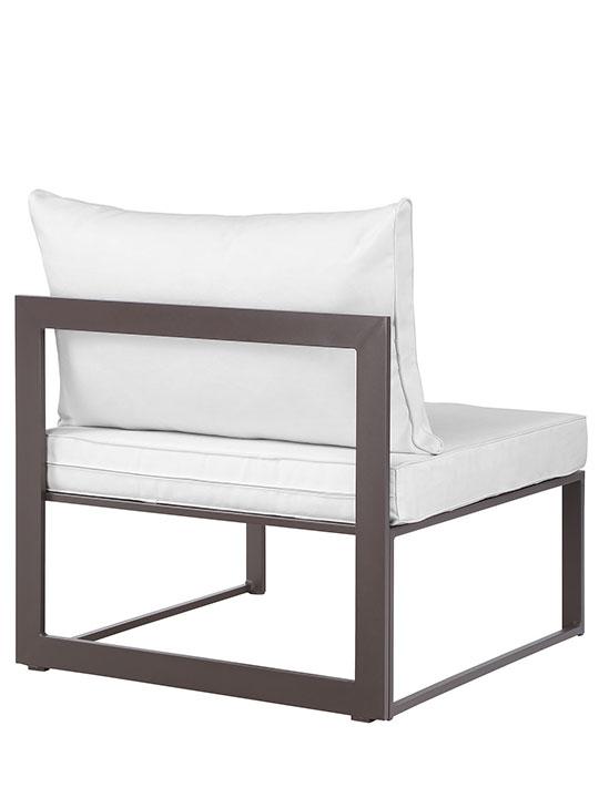 Star Island Outdoor Chair Brown White Cushion 3
