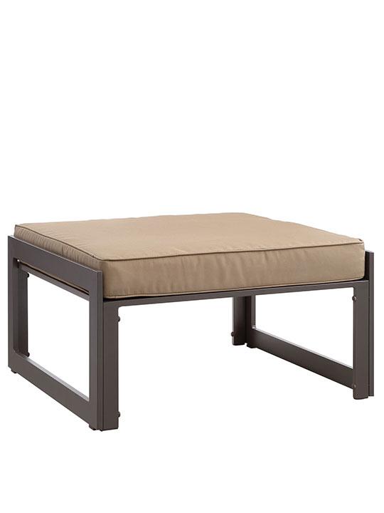 Star Island Outdoor Ottoman Brown Light Brown Cushion 1