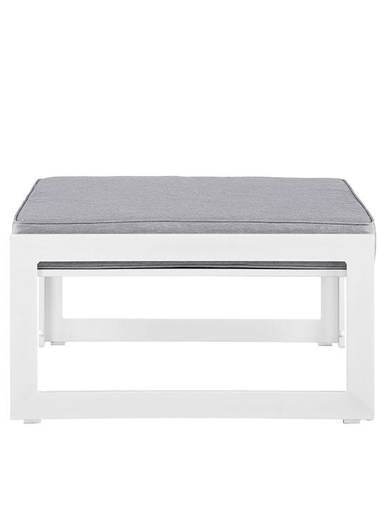 Star Island Outdoor Ottoman White Gray Cushion 2