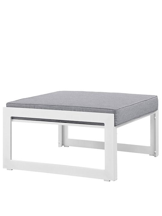 Star Island Outdoor Ottoman White Gray Cushion 3