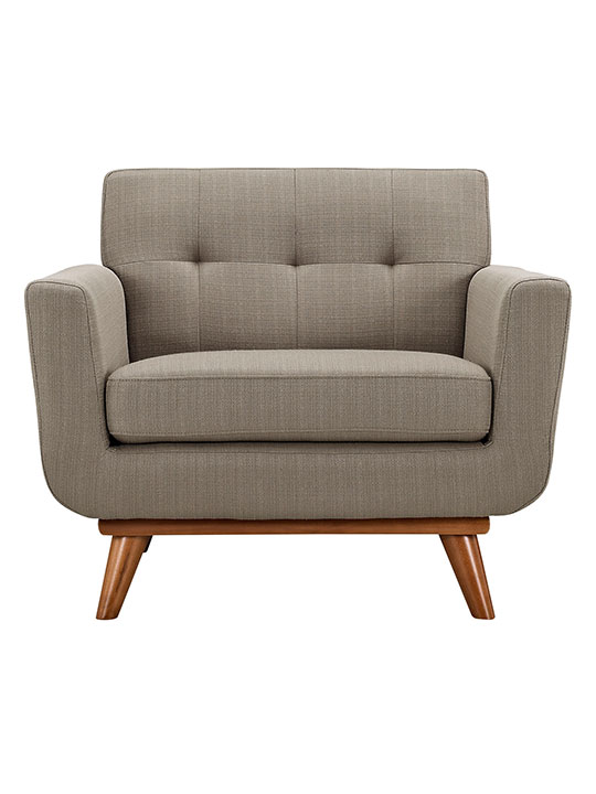 Taupe Pop Art Deco Armchair