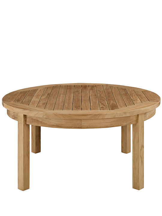 Teak Outdoor Round Coffee Table 2