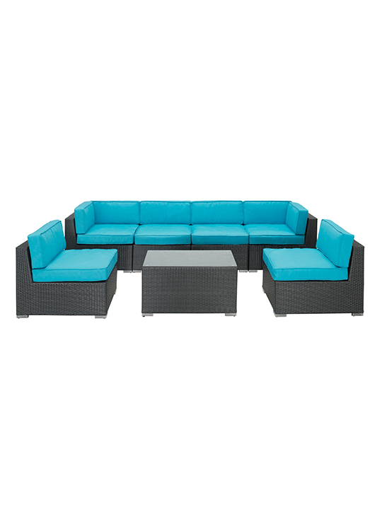Turquoise Jamaica 7 Piece Outdoor Set