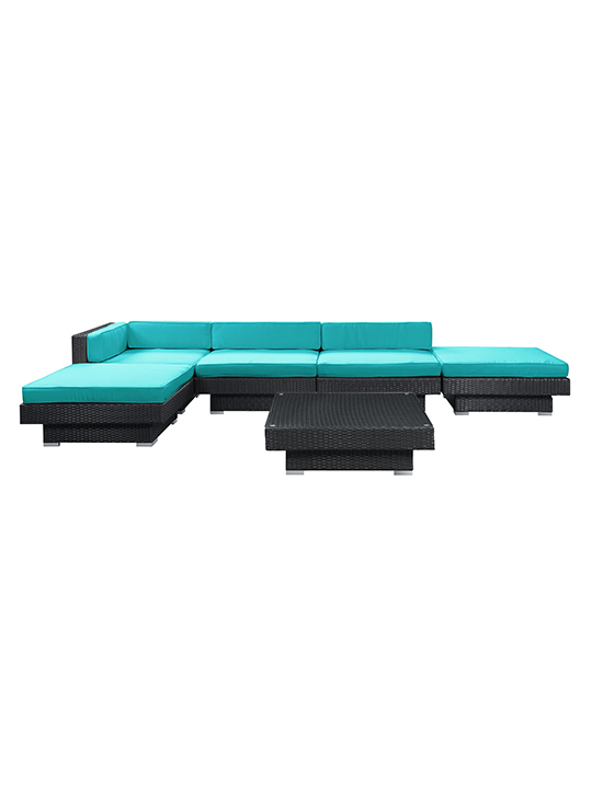 Turquoise Palm Springs 6 Piece Outdoor Sofa Set