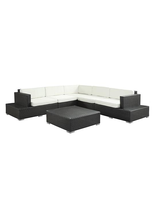 White Cancun 6 Piece Outdoor Sofa Set