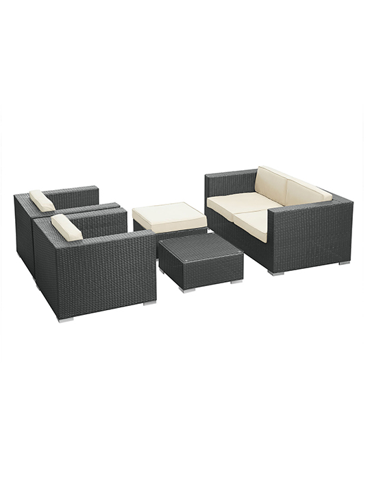 White Cushion Cayman Espresso 5 Piece Outdoor Set 22