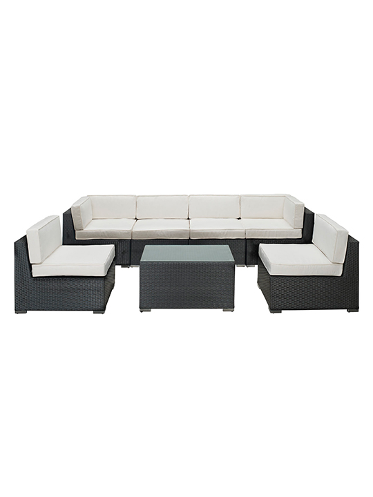 White Jamaica 7 Piece Outdoor Set