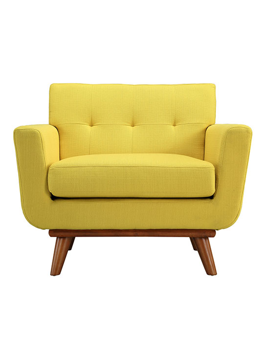 Yellow Pop Art Deco Armchair