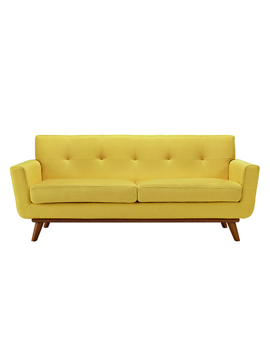 Yellow Pop Art Loveseat