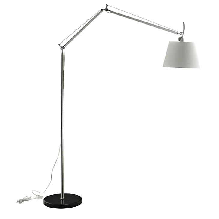 pose floor lamp black base