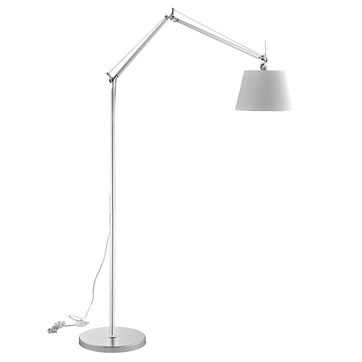 pose floor lamp silver base