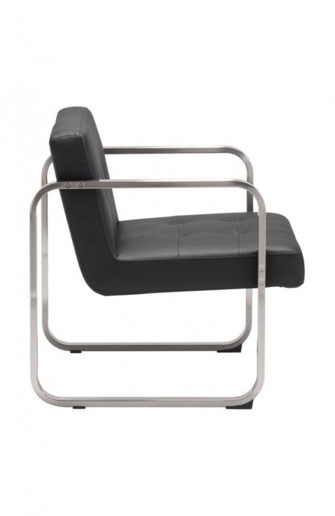 21st Century Chair Black Leather 2