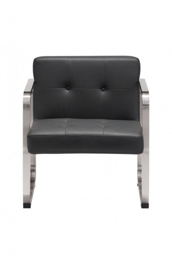 21st Century Chair Black Leather 3