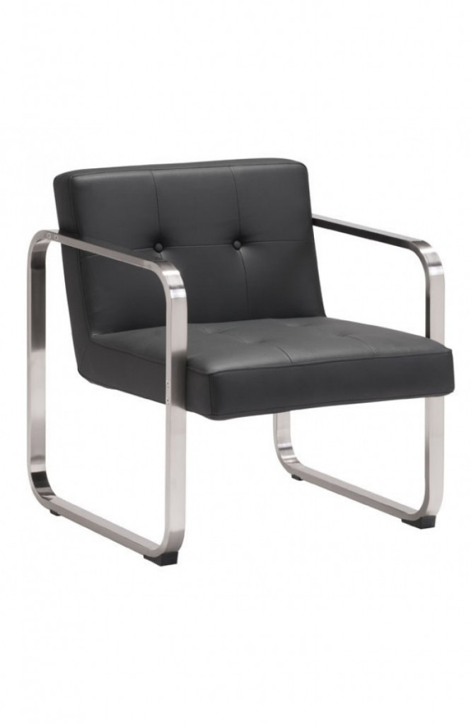 21st Century Chair Black Leather