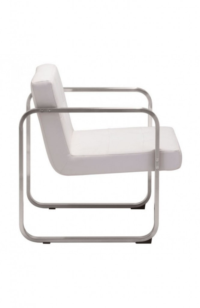 21st Century Chair White Leather