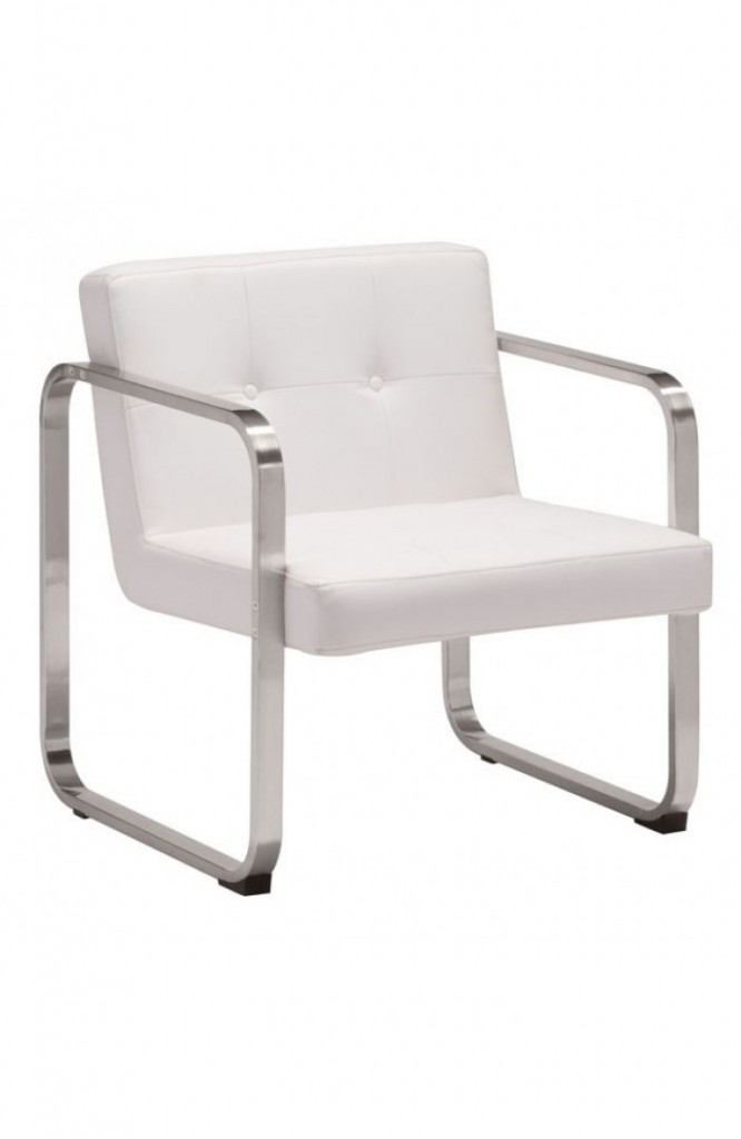 21st Century Chair White Leather 2