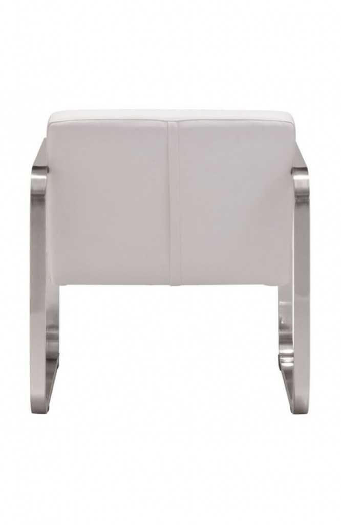 21st Century Chair White Leather 4