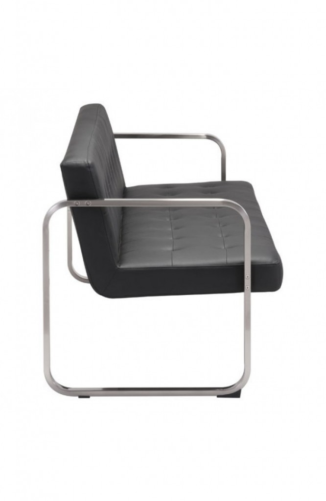 21st Century Sofa Black Leather 4