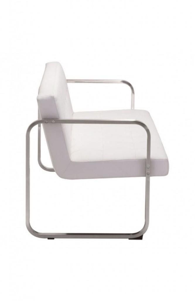 21st Century Sofa White Leather 2