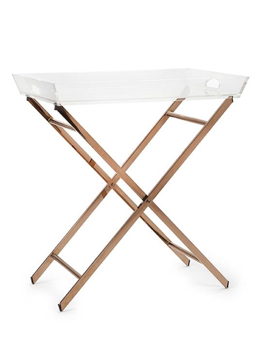 Acrylic Bronze Tray Table