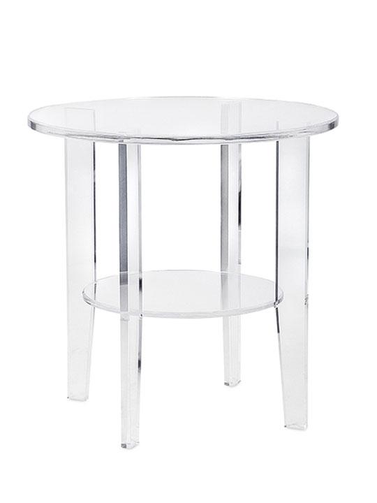 Acrylic Circular End Table