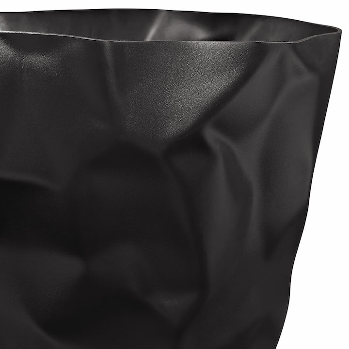 Black Paper Sculpt Trash Bin 2