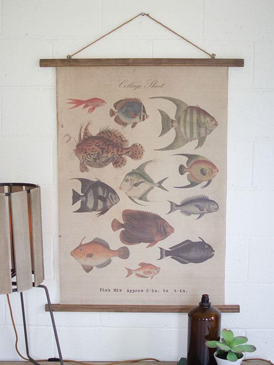 Canvas Fish Art