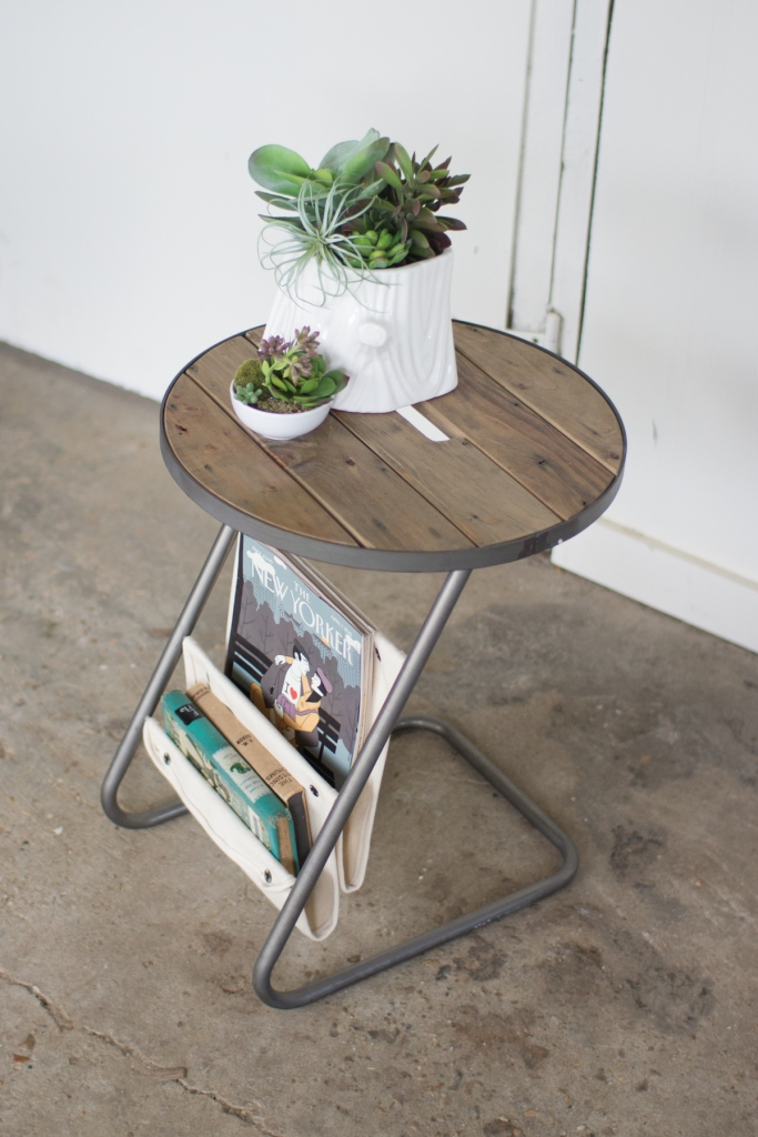 Canvas Wood Side Table 2