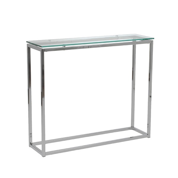 Chrome Glass Console Table 2