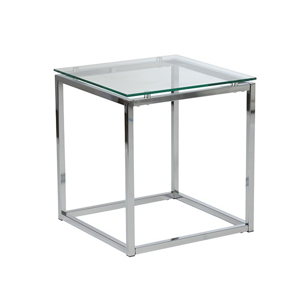 Chrome Glass Side Table 2