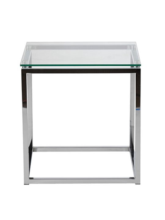 Chrome Glass Side Table