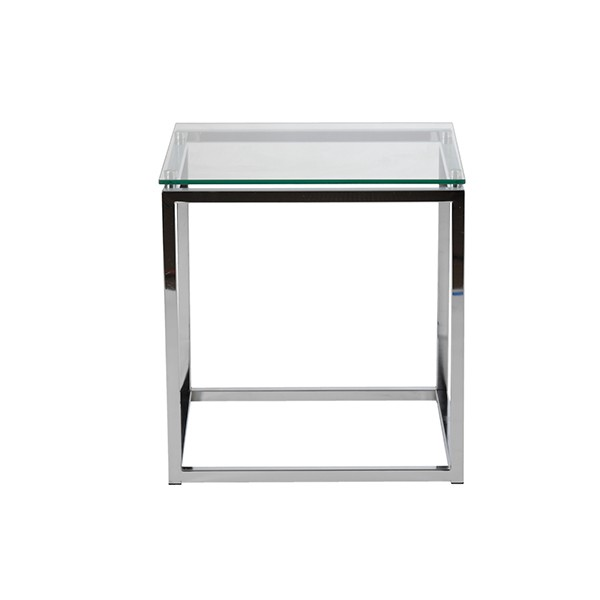 Chrome Glass Side Table1