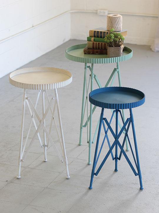 Green White Blue Nesting Table Set