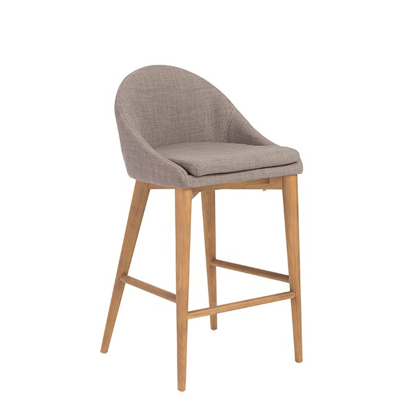 Grey Fabric Westside Barstool 2